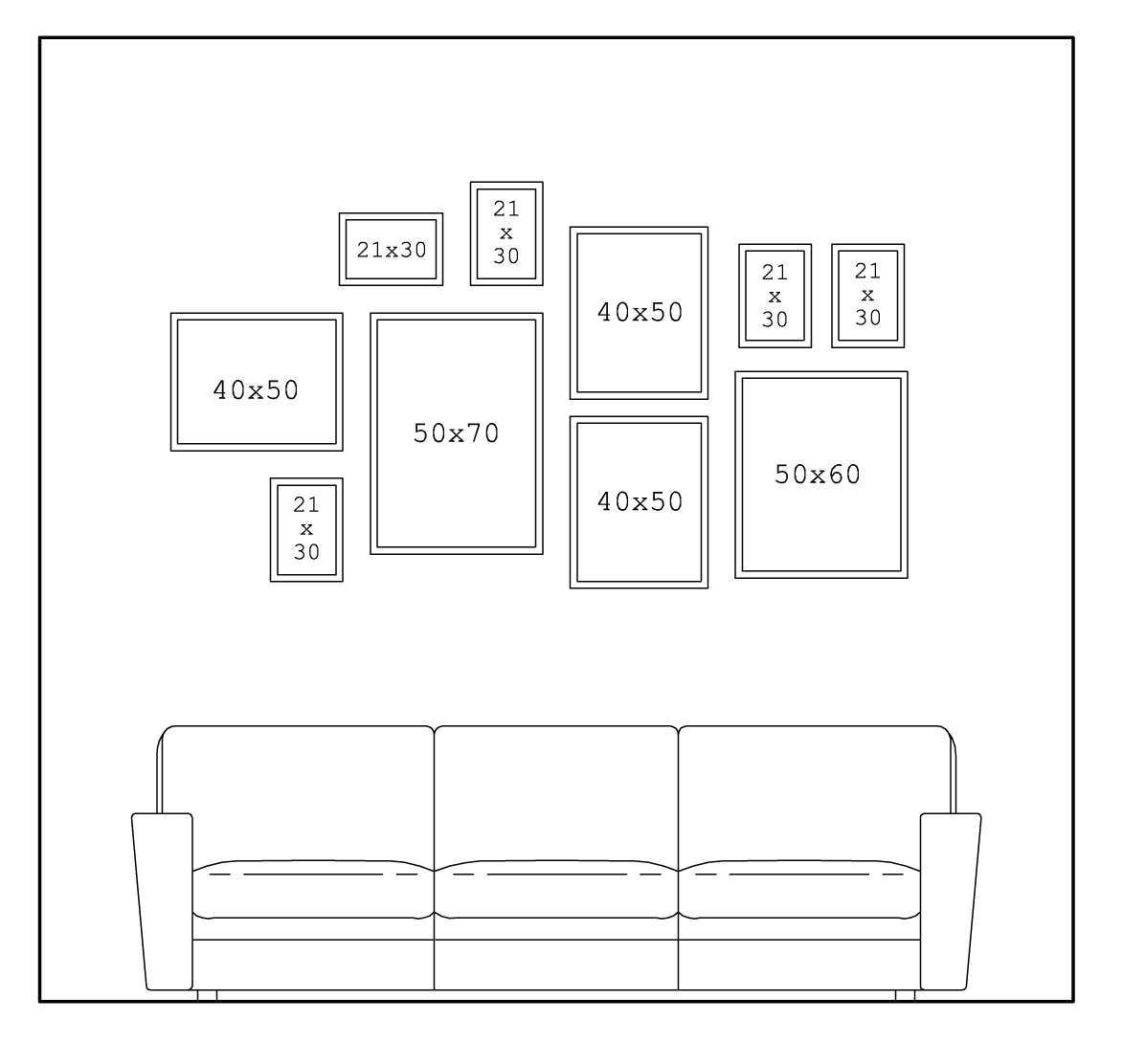 Appendere Quadri Su Scale come disporre i quadri in casa - casa minimalista